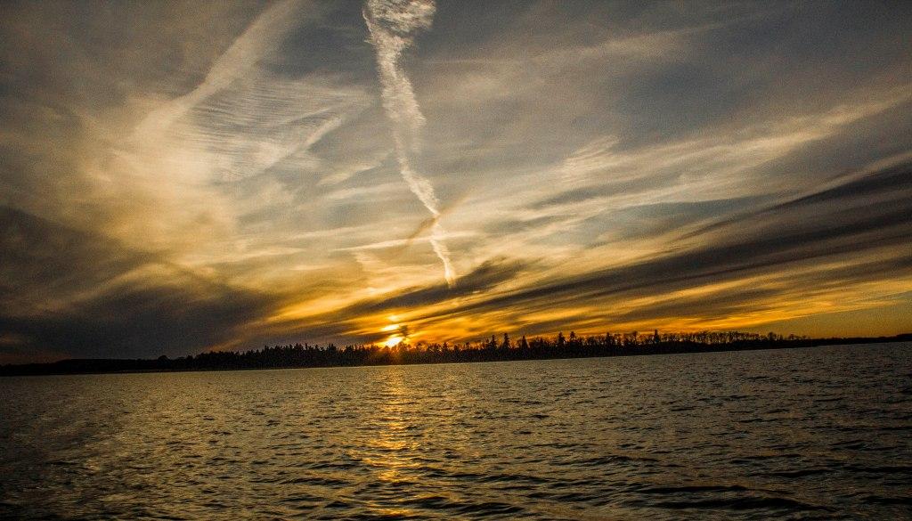 Mälaren solnedgång